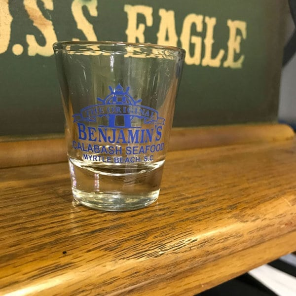 shot glass wood